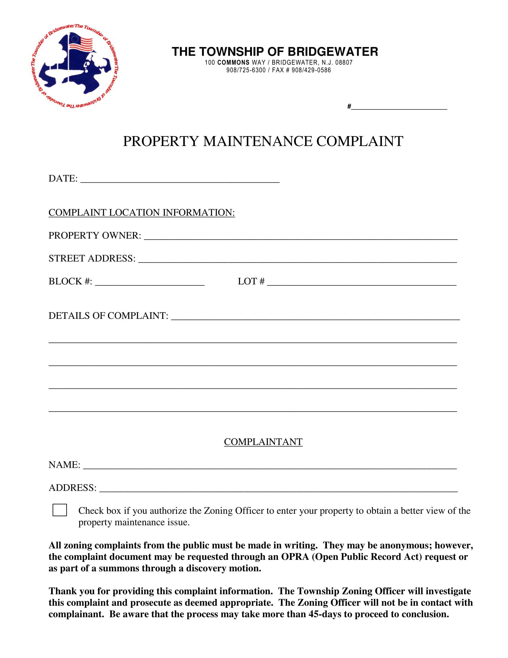 property maintenance 1