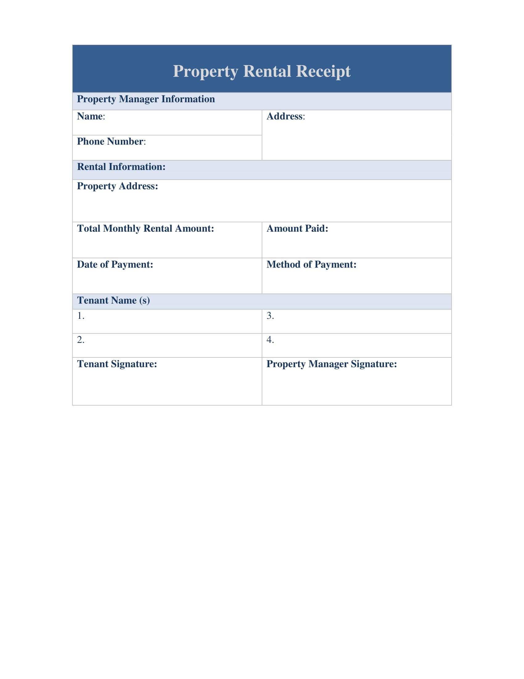 property rental receipt 1