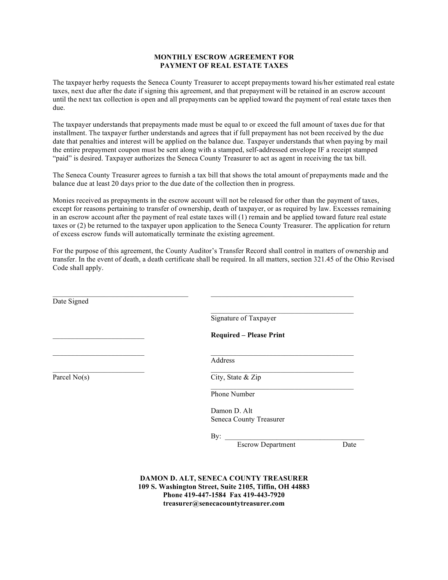 real estate escrow agreement form 2