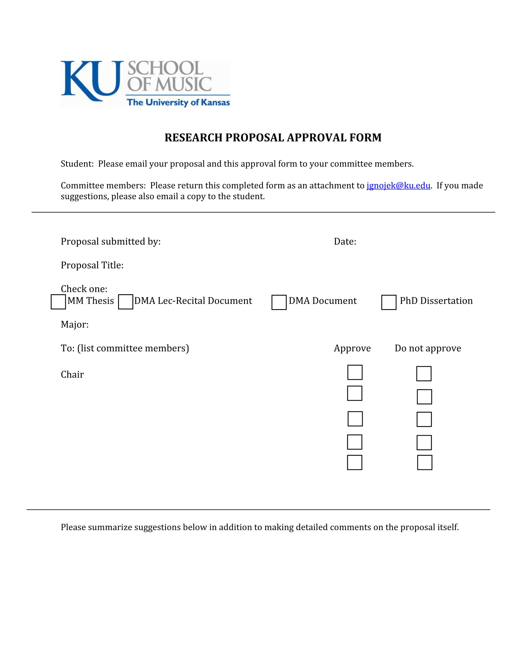 Dissertation approval form