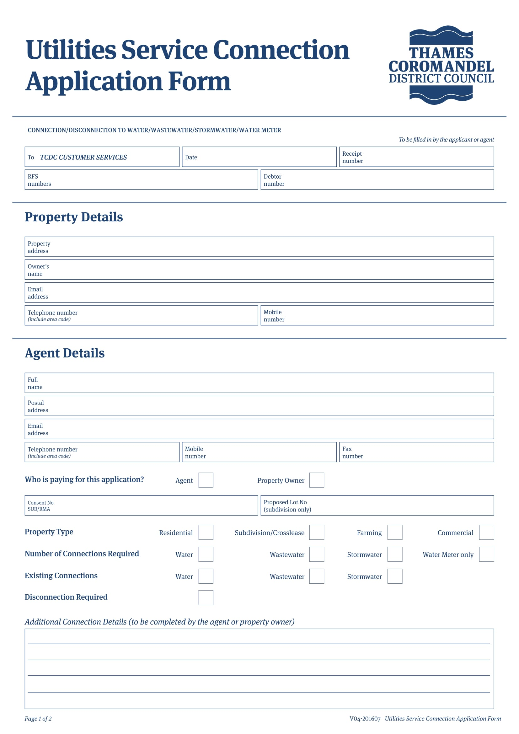 service application form 1