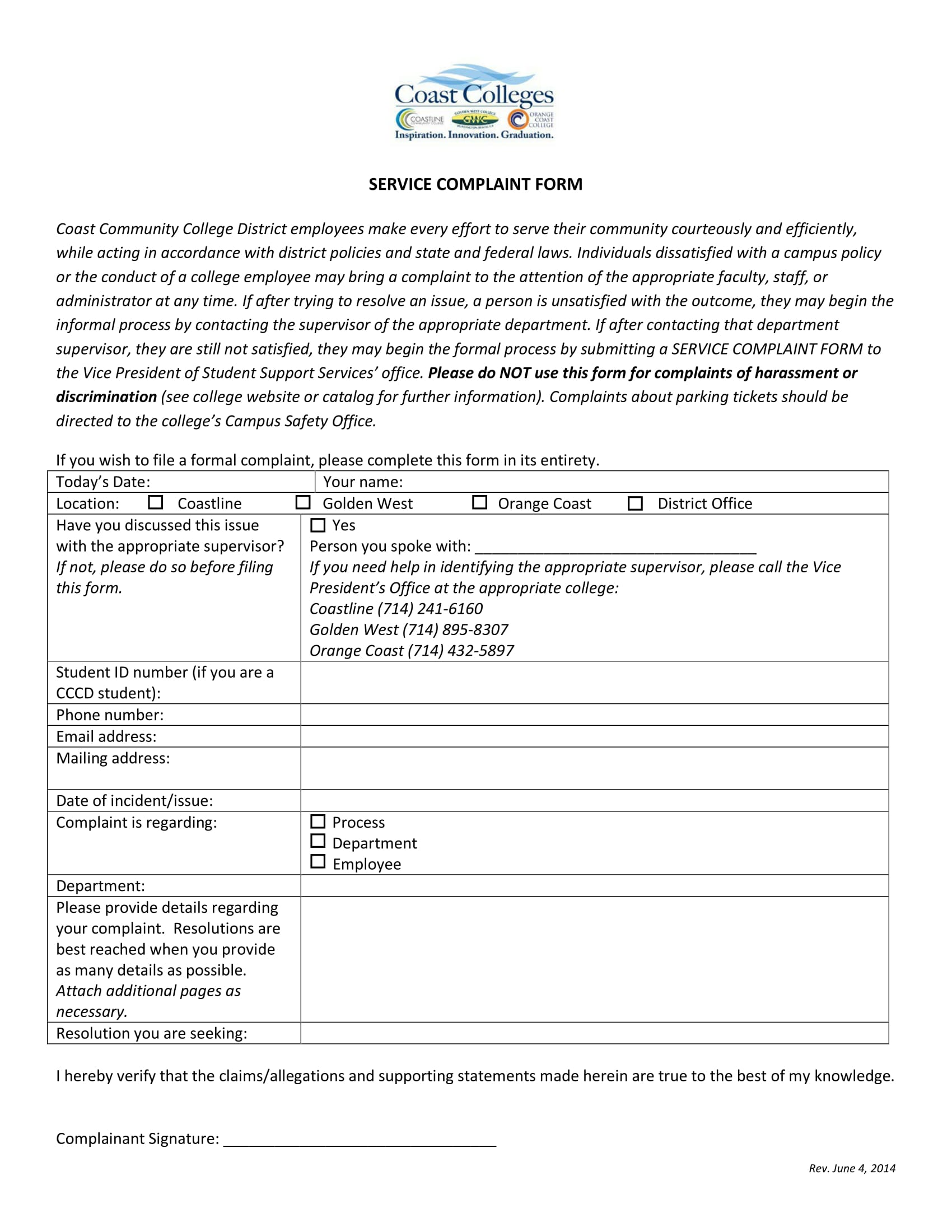 service complaint form in pdf 1