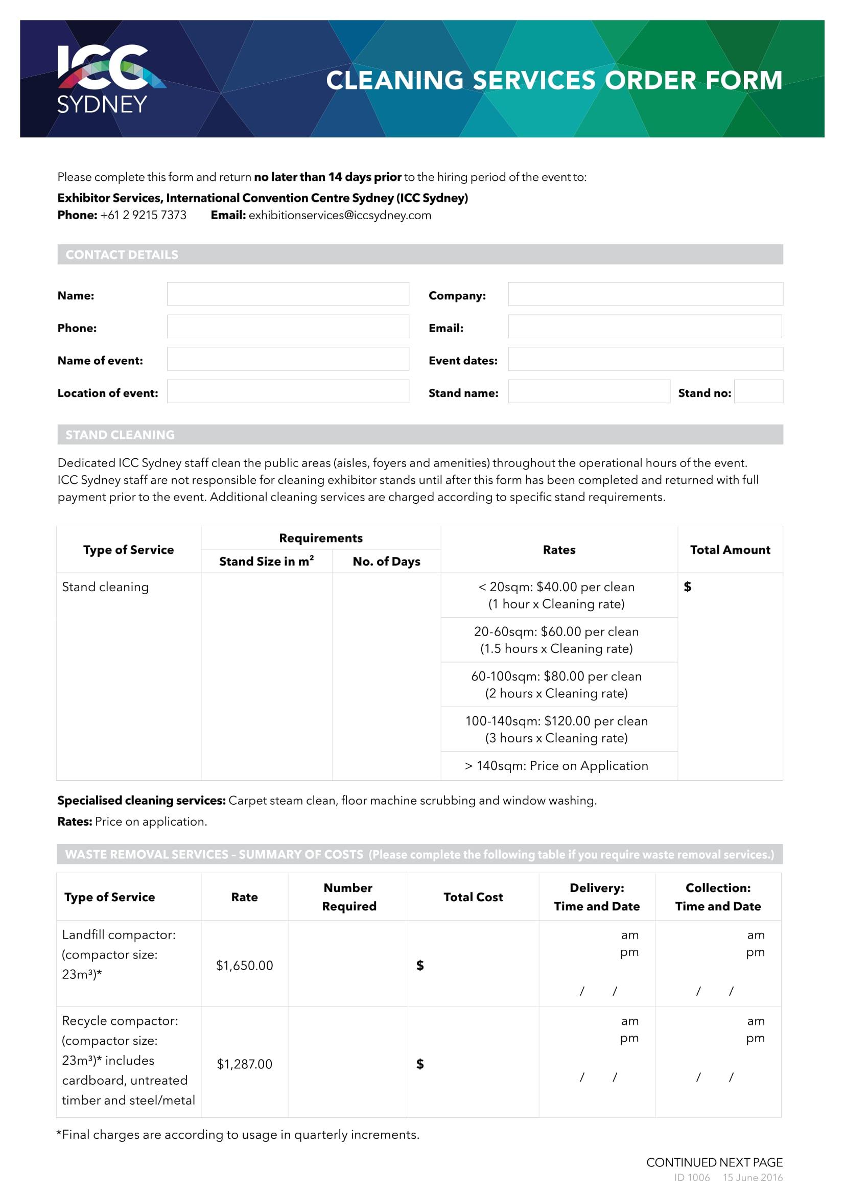 service order form 1