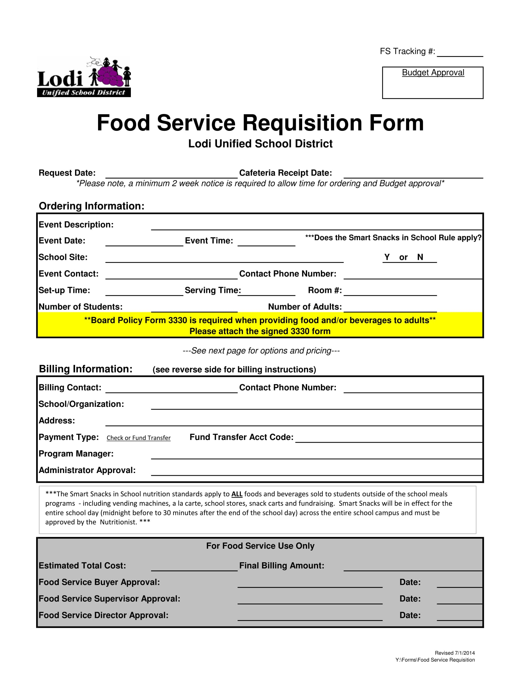 service requisition form 1