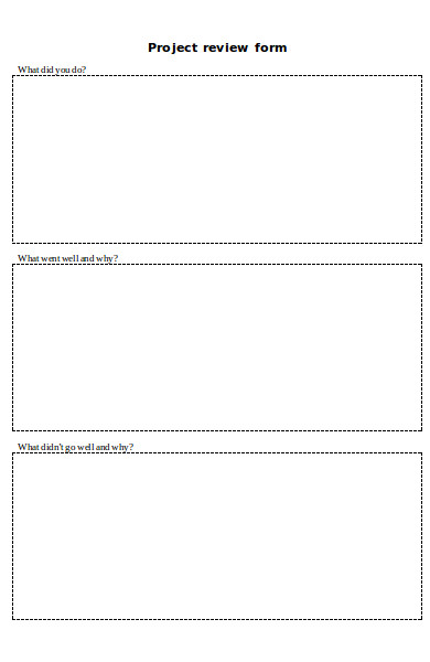 simple project review form