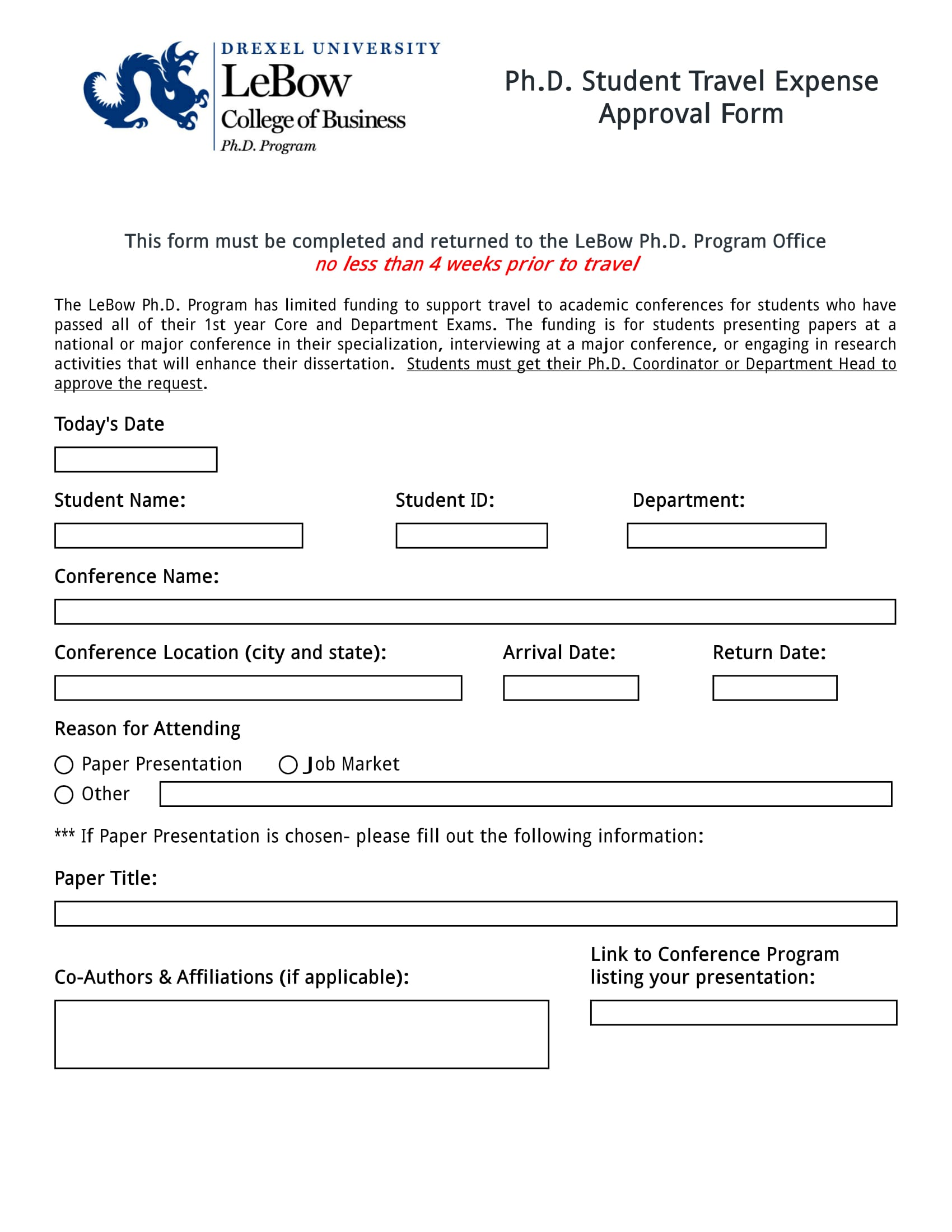 travel expense approval form 1