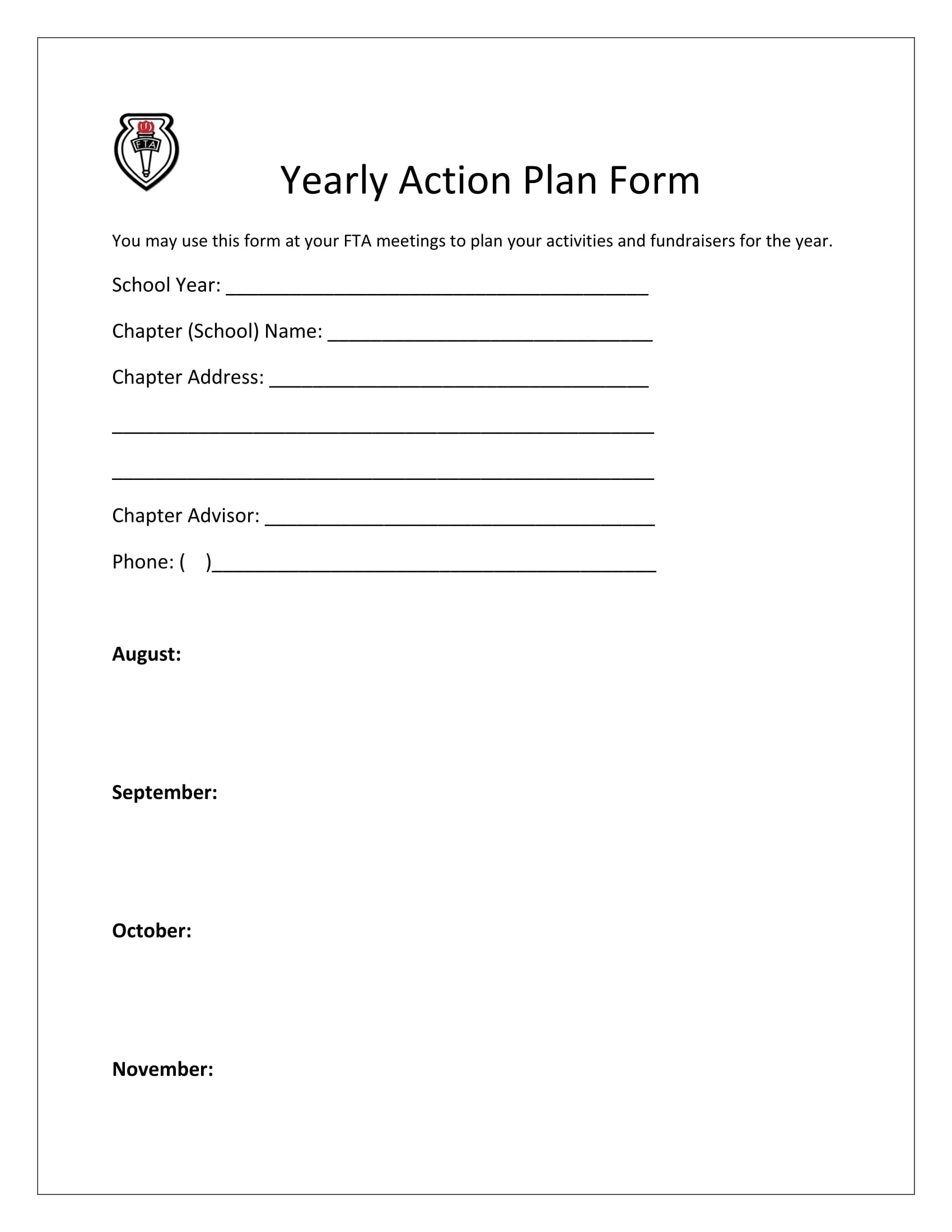 yearly action plan form 1