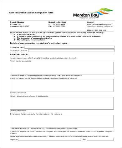 administrative action complaint form 390