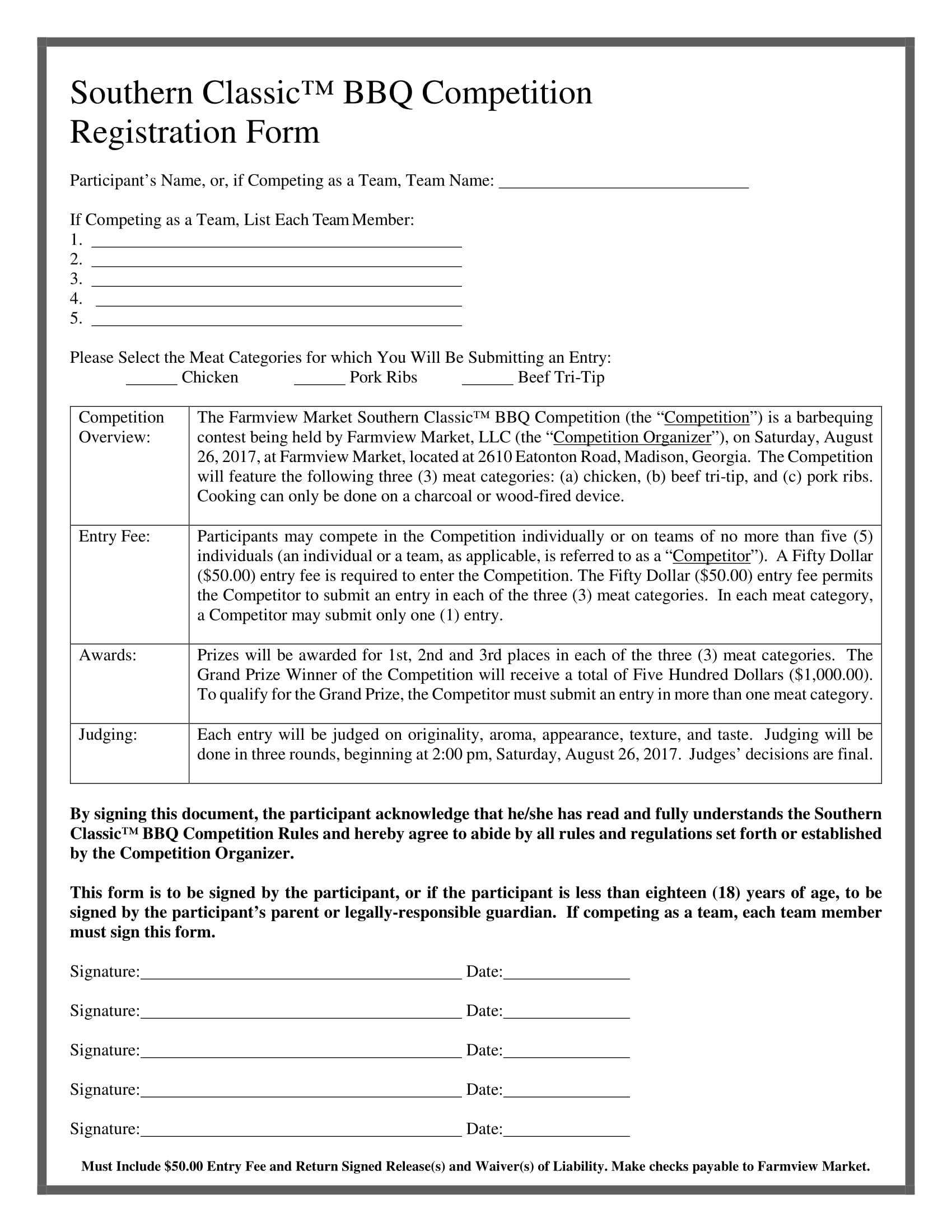 bbq competition registration form 1