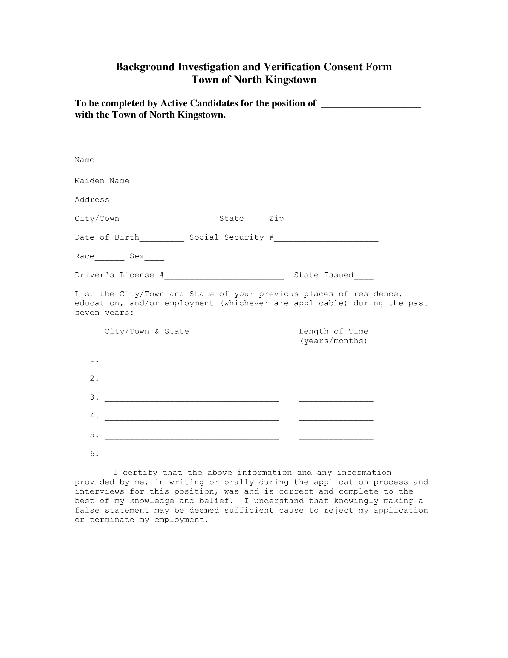 background verification consent form 1