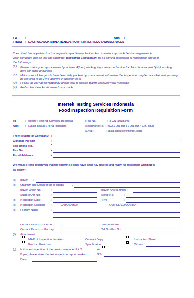 basic food requisition form