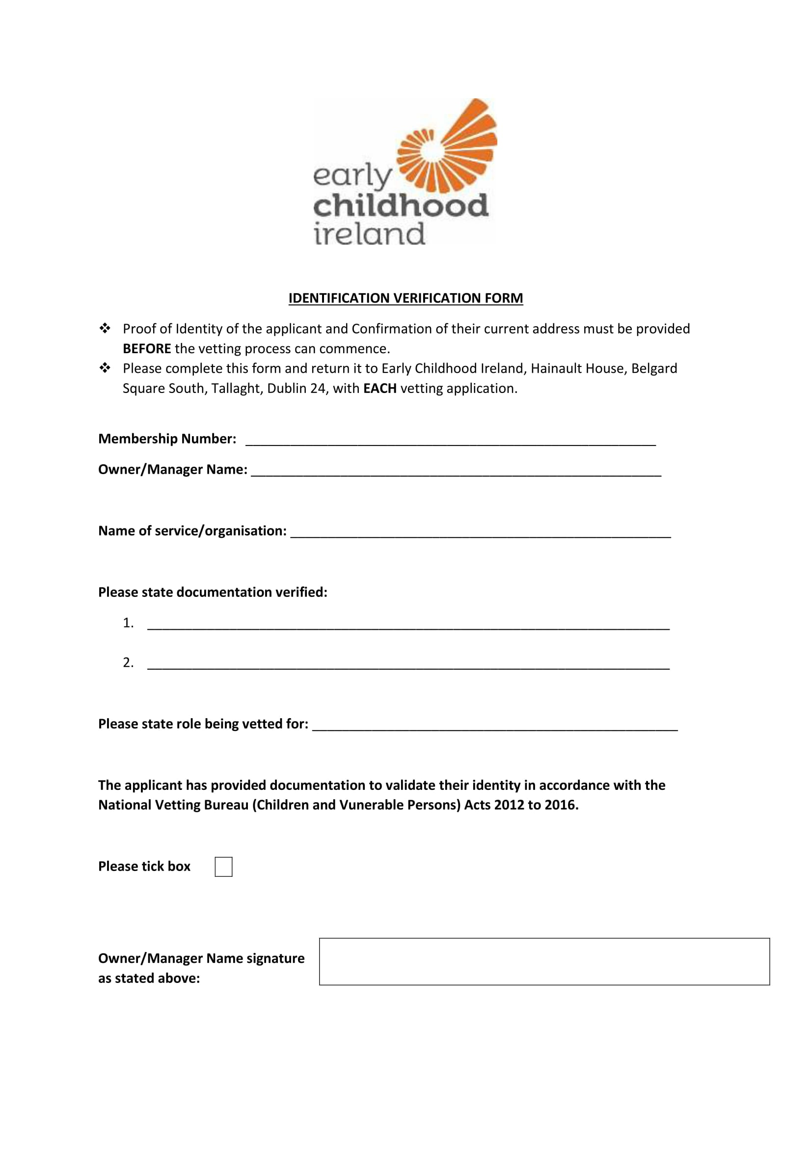 child identification verification form 1