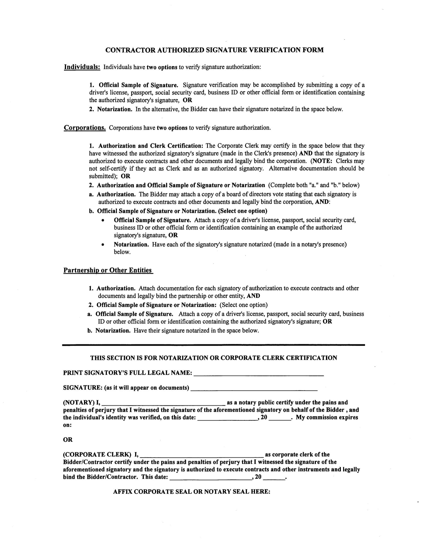 What Is A Signature Verification Form