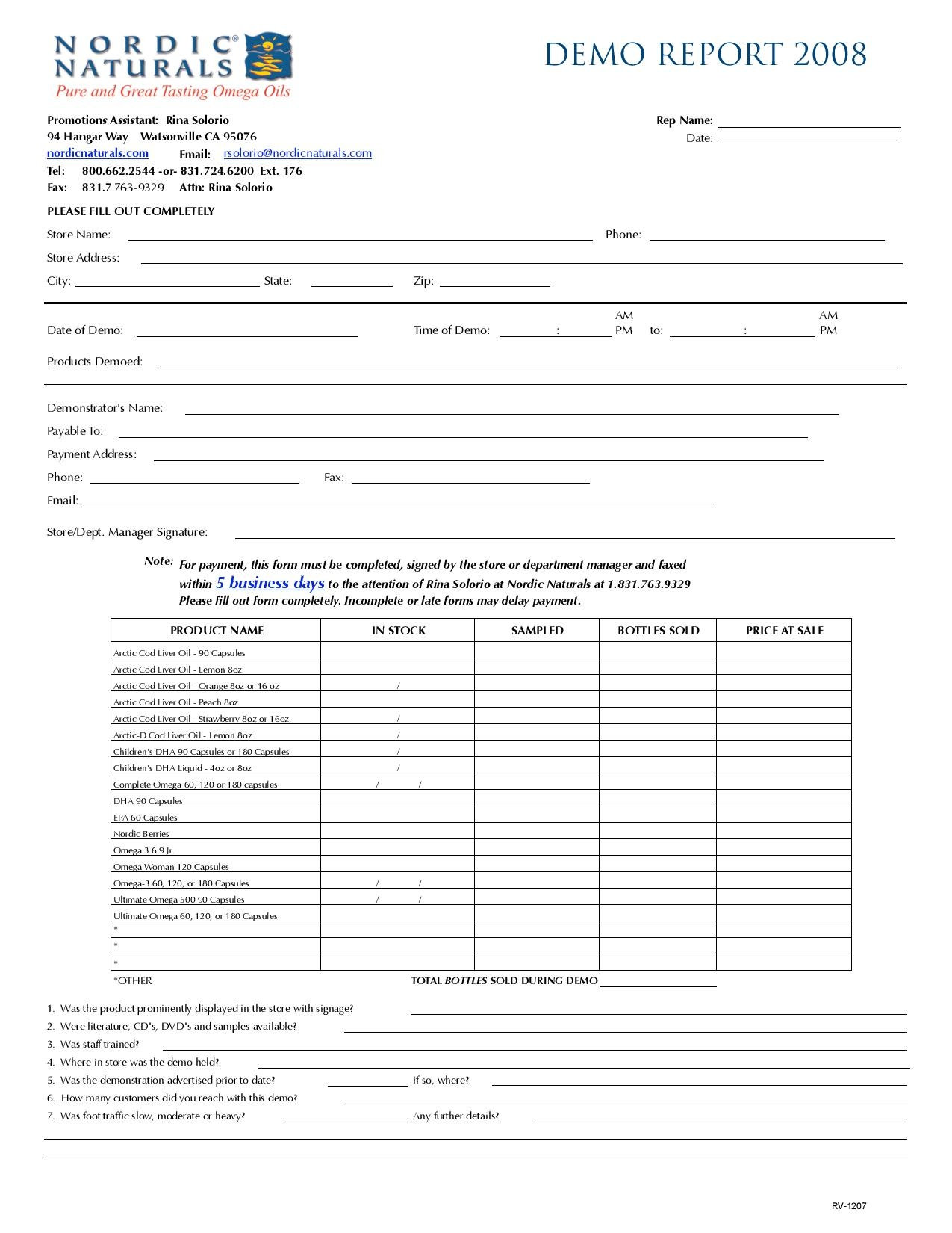 demo report form page 001
