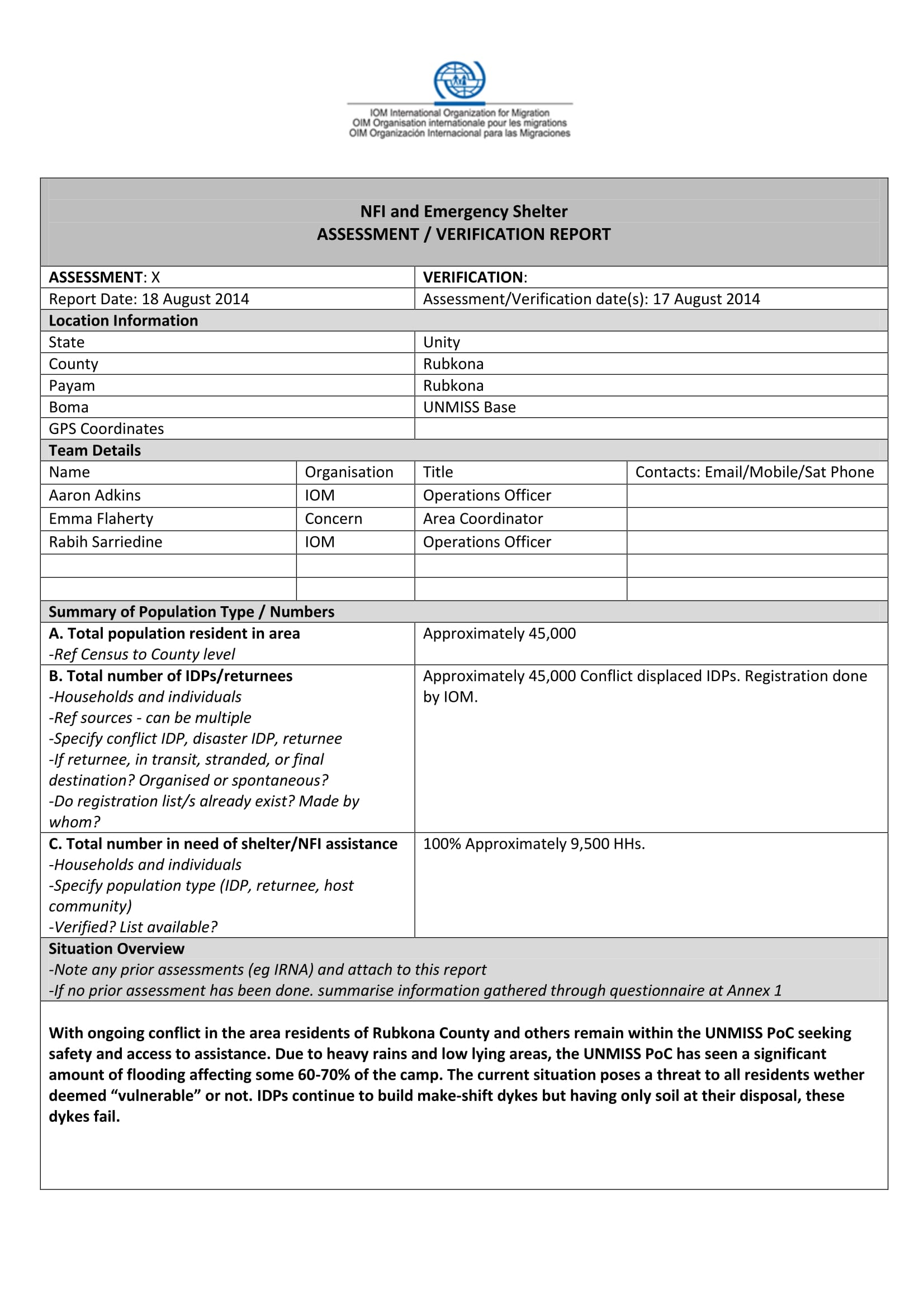 emergency shelter verification form 1