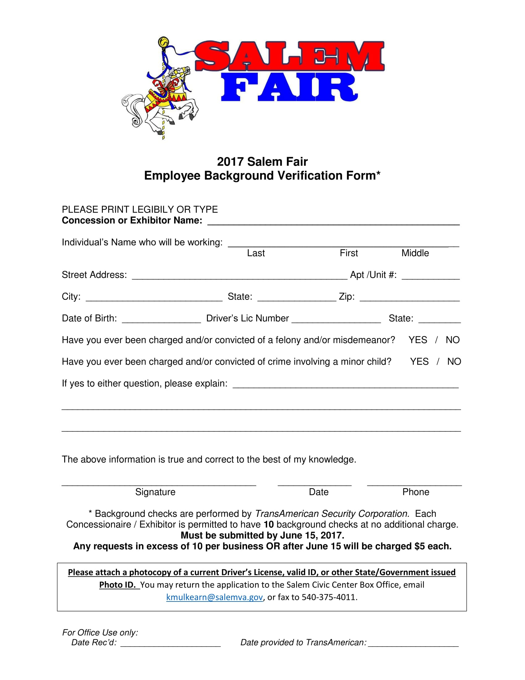 employee background verification form 1