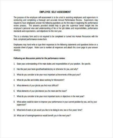 employee performance self assessment1 390