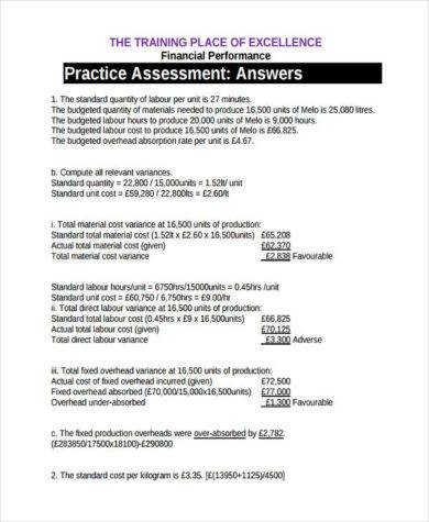 financial performance practice 390