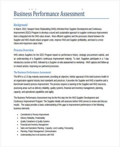 general business performance 390