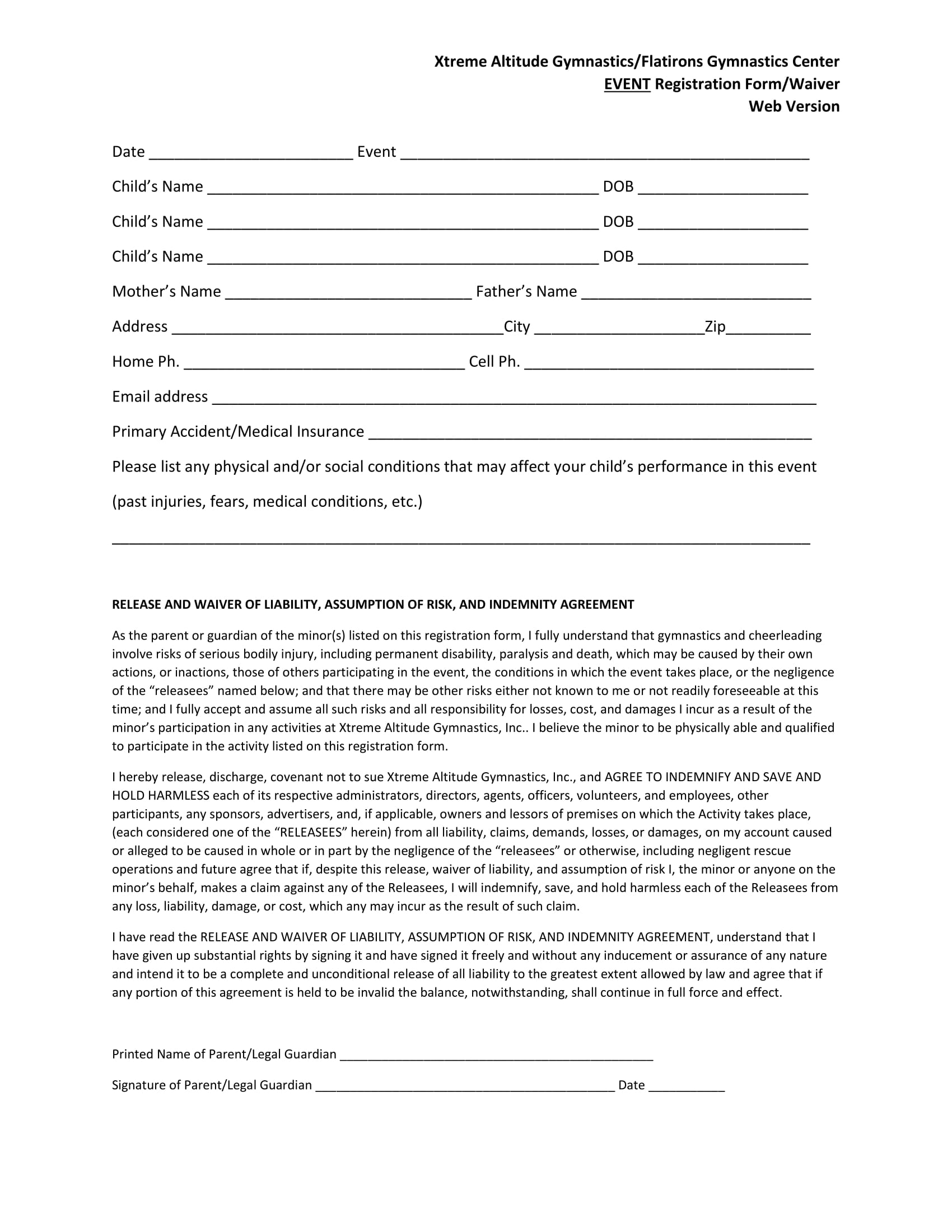 gymnastics event registration form 1
