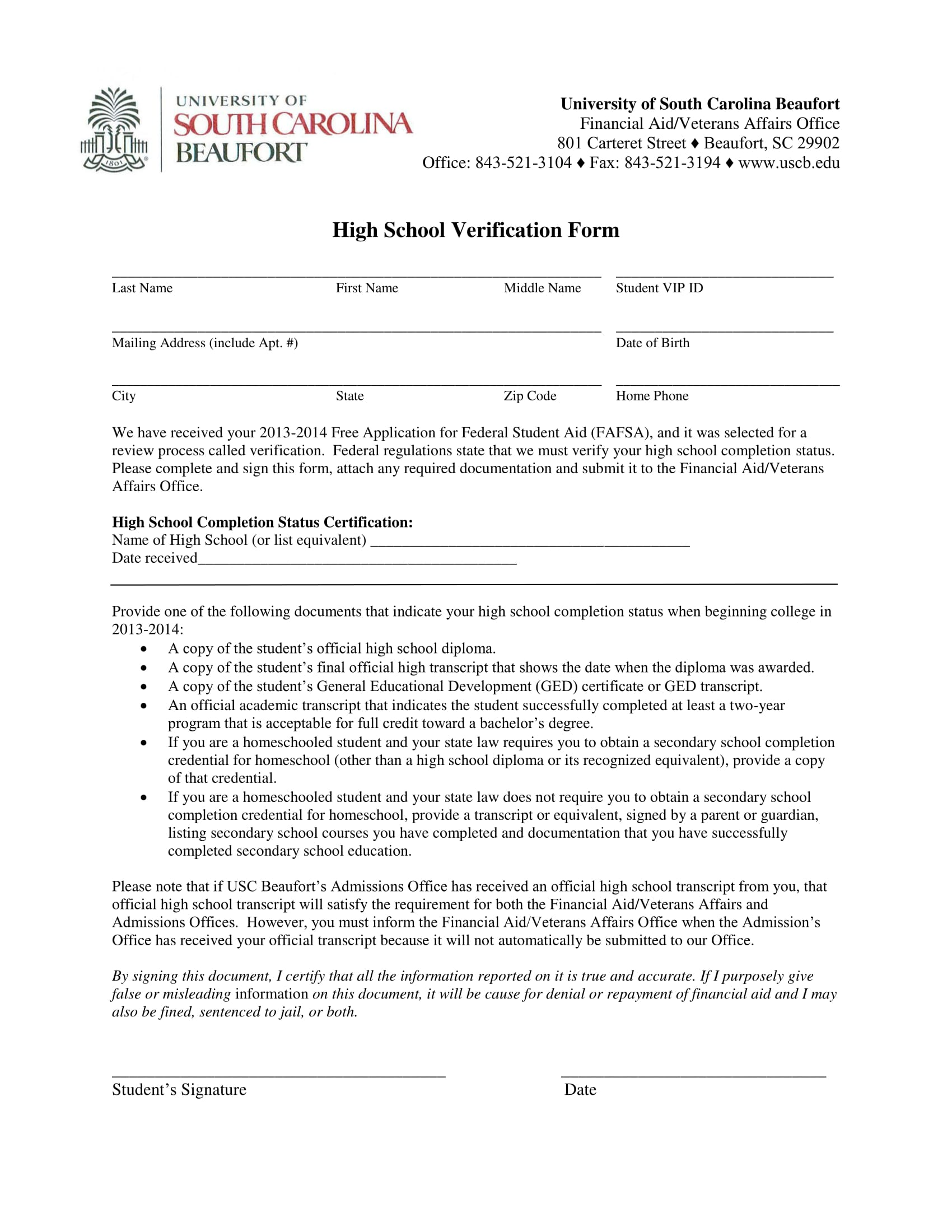 What Is a School Verification?