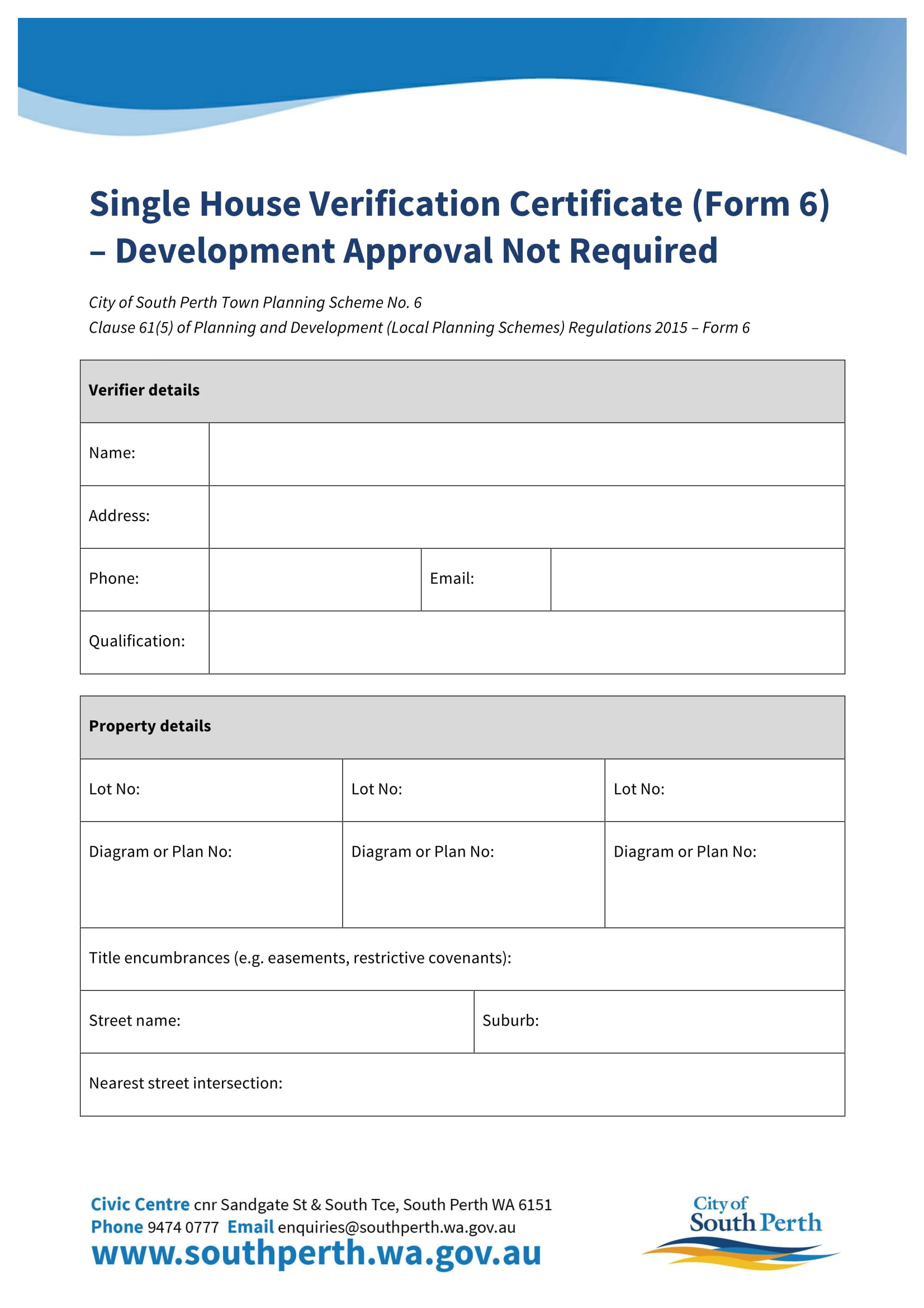 house verification certificate form 01