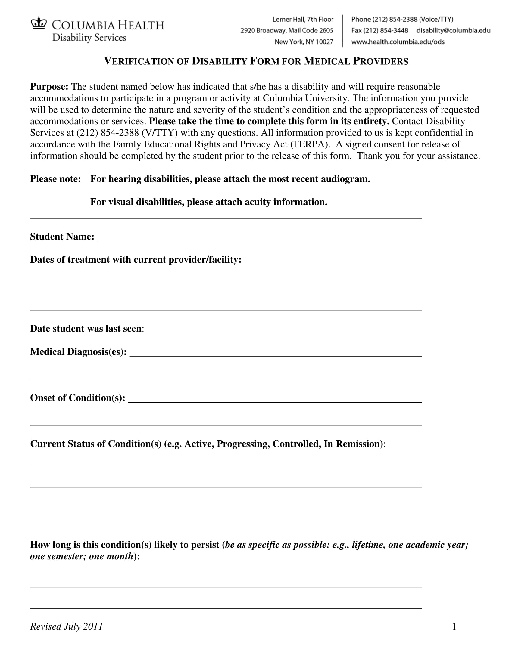 medical providers disability verification form 1