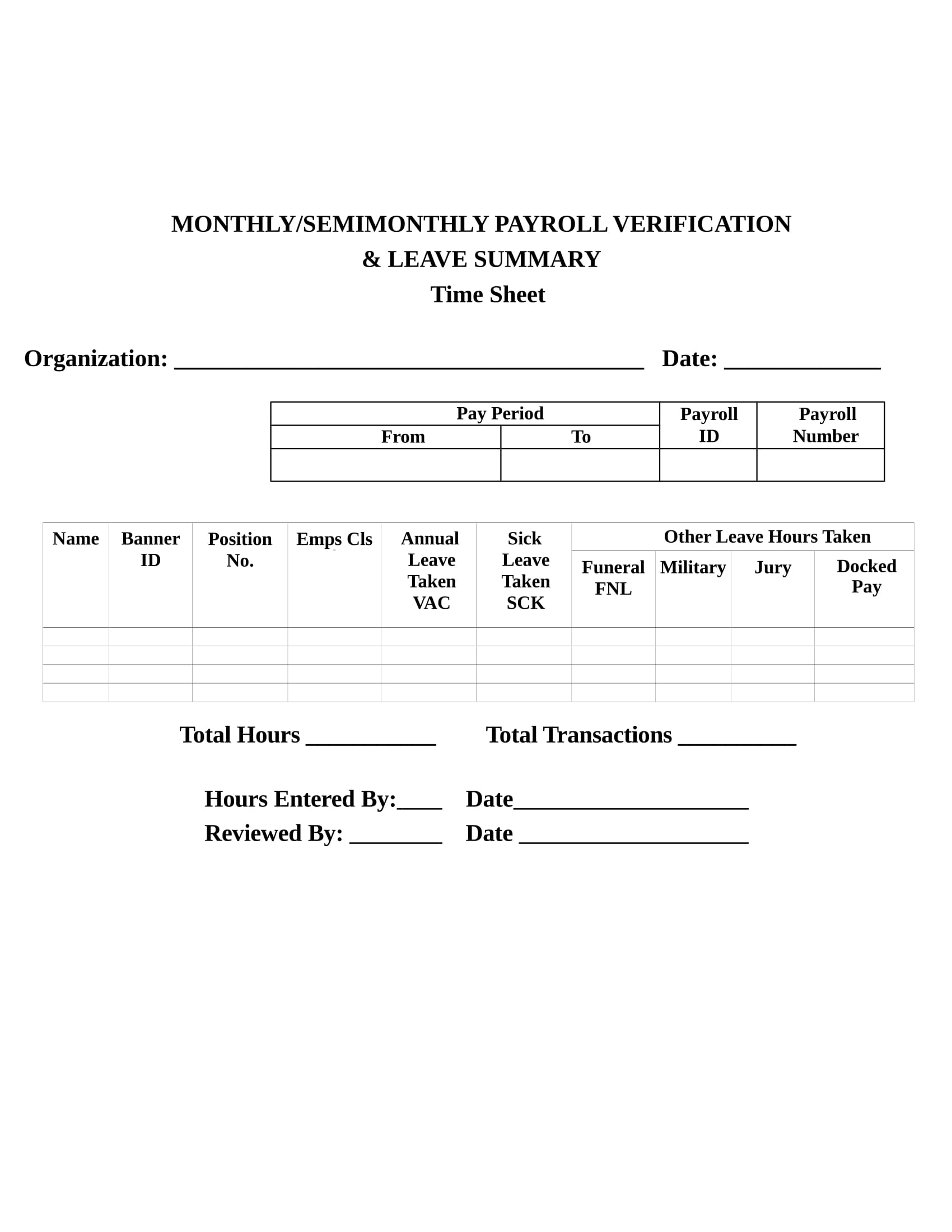 monthly payroll verification form 1