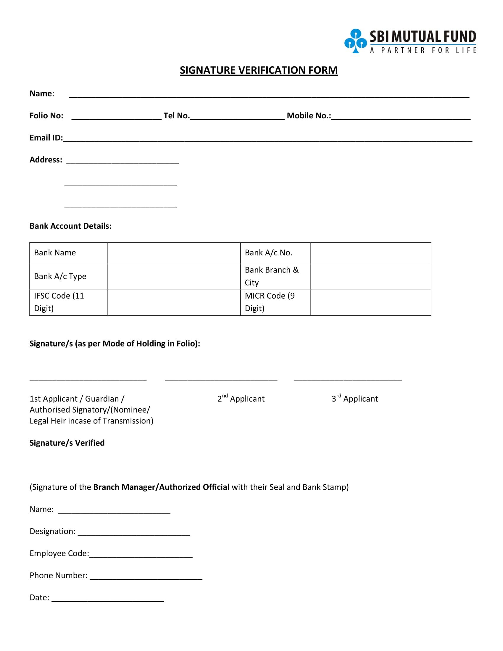 bank signature and photo verification format