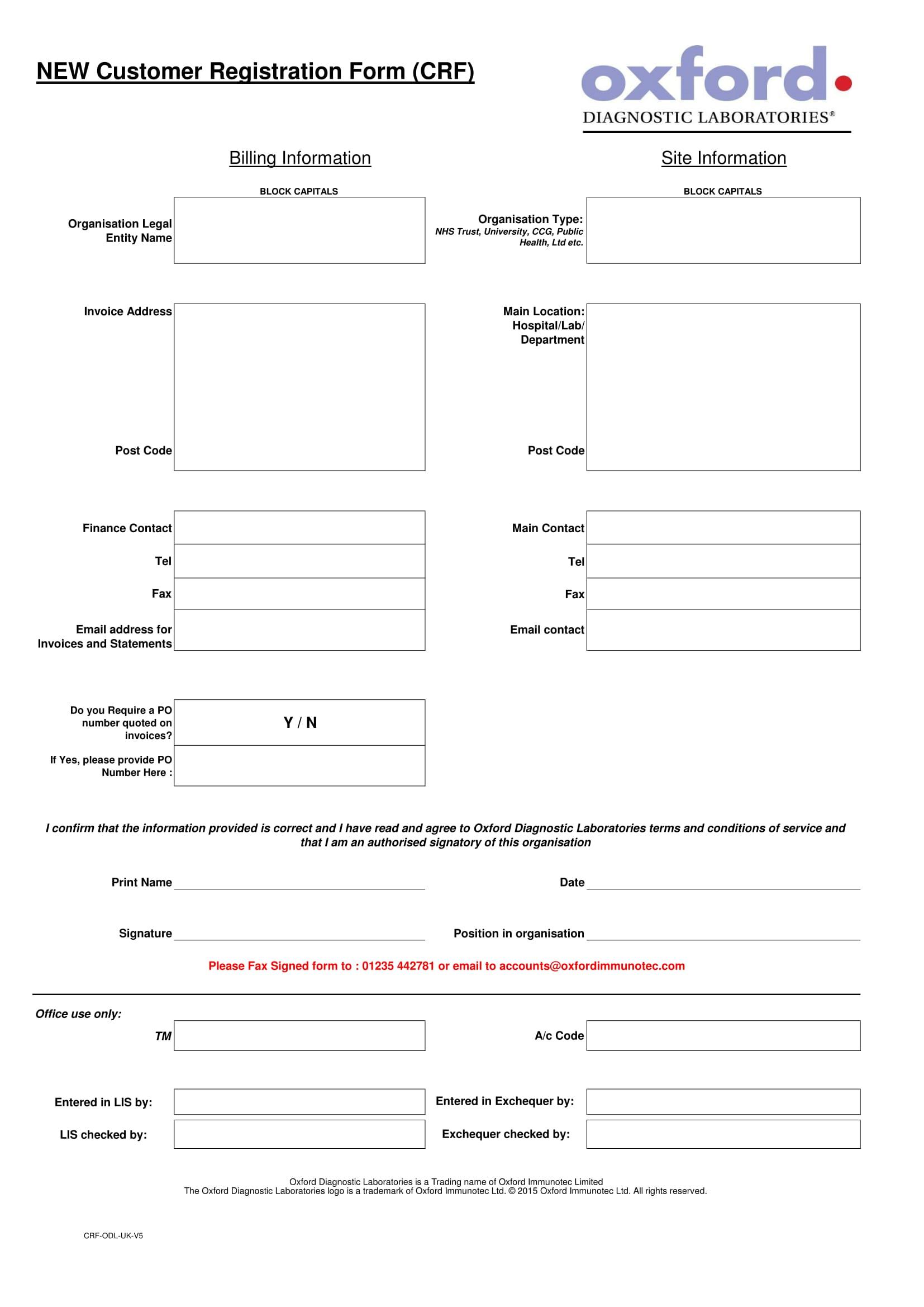 new laboraty customer registration form 1