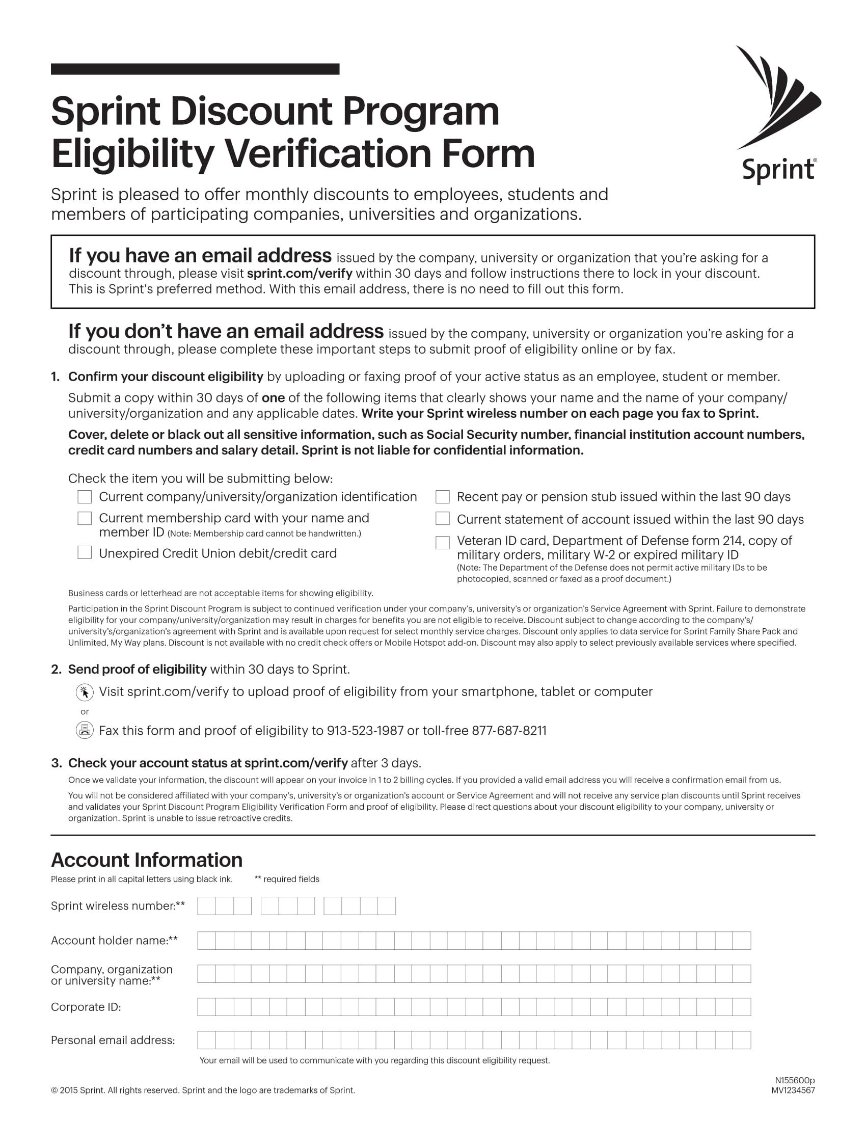 program eligibility verification form 1