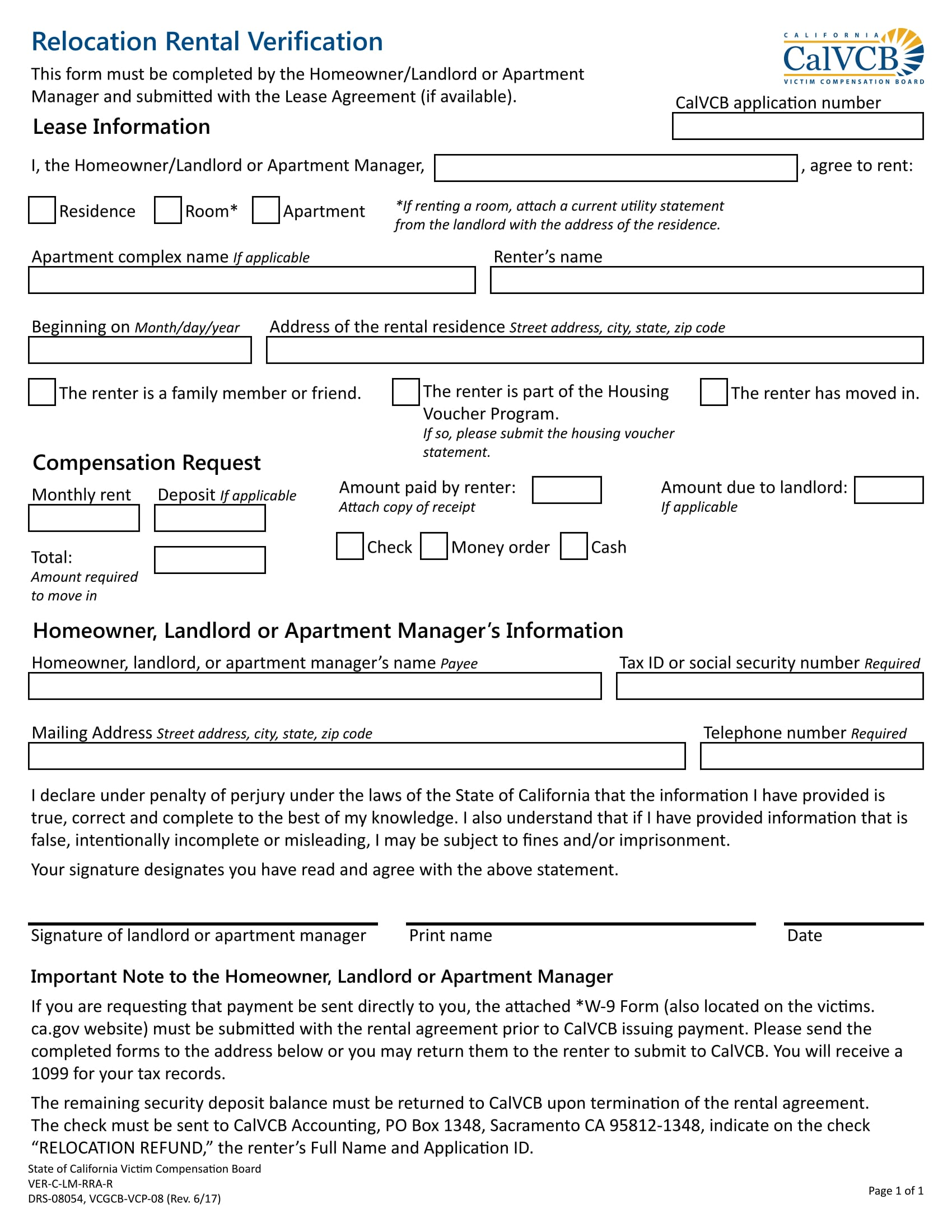 Renter Verification Form Procurement Manager Job Description