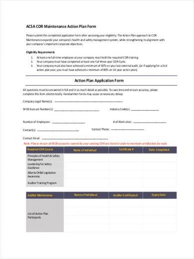 sample maintenance action 390