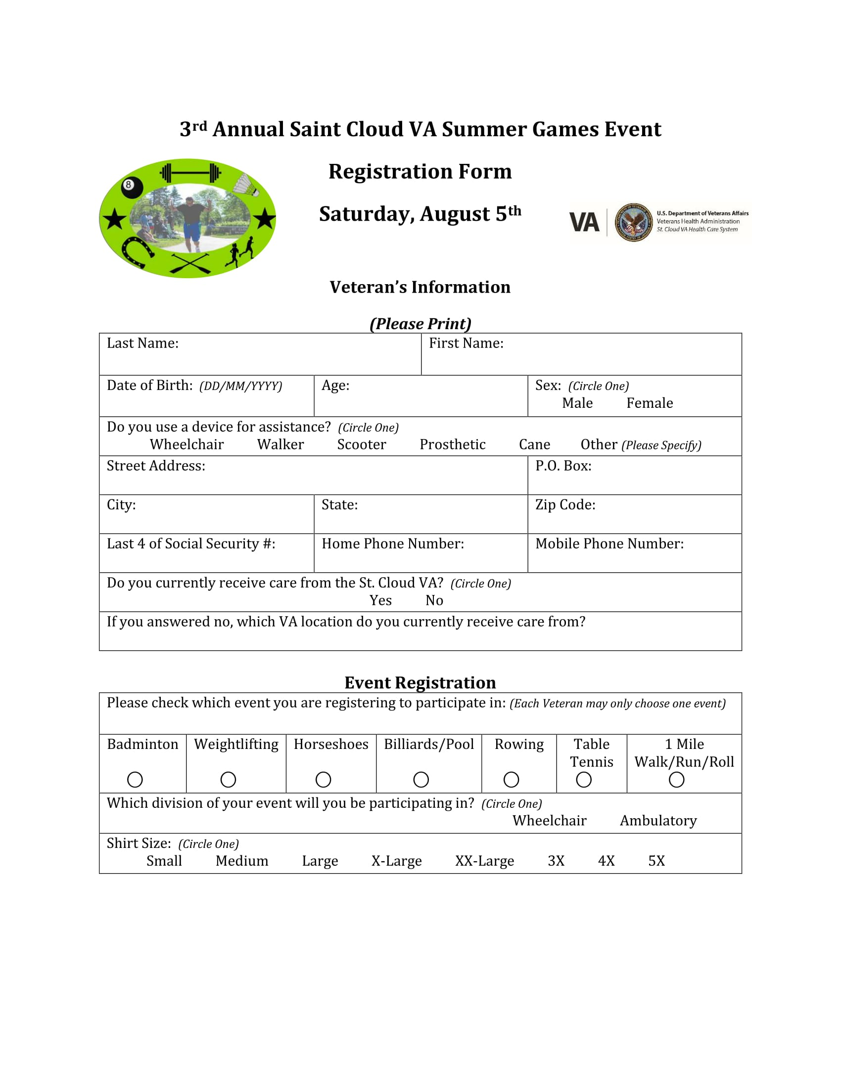 summer games event registration form 1