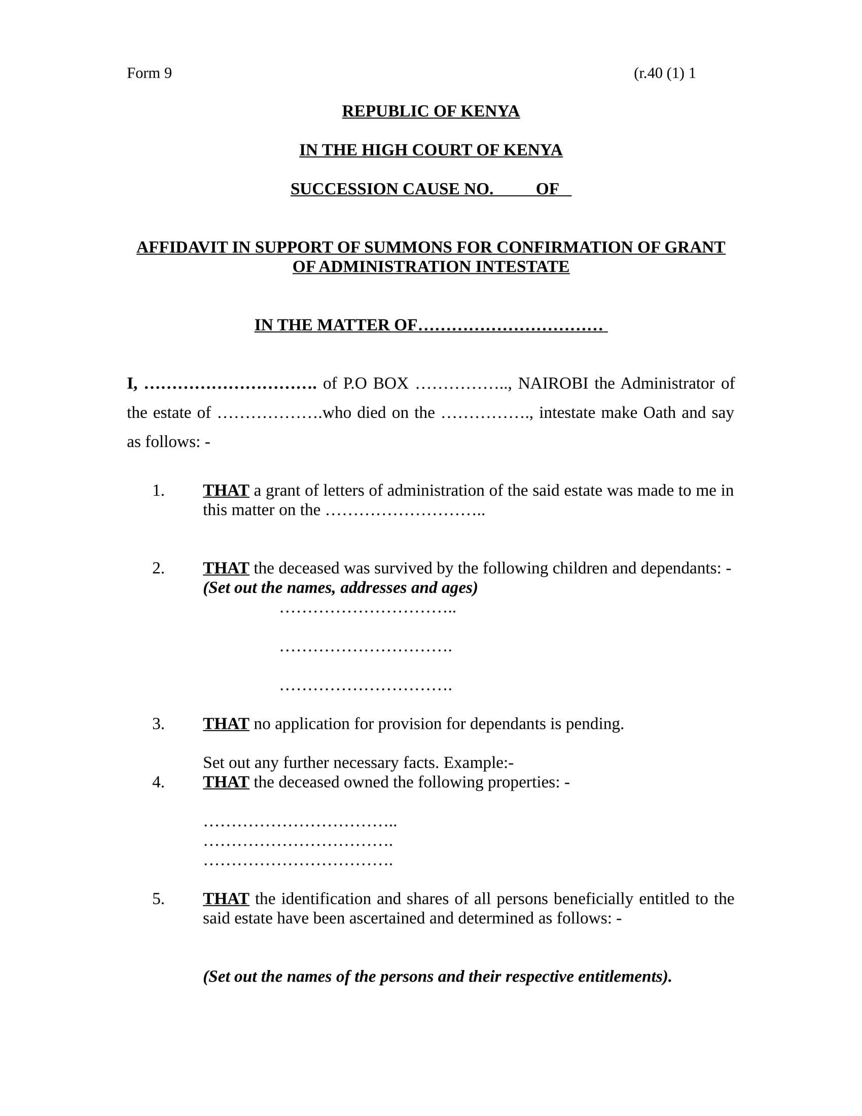 21 affidavit form sample formats summons support affidavit format falaconquin