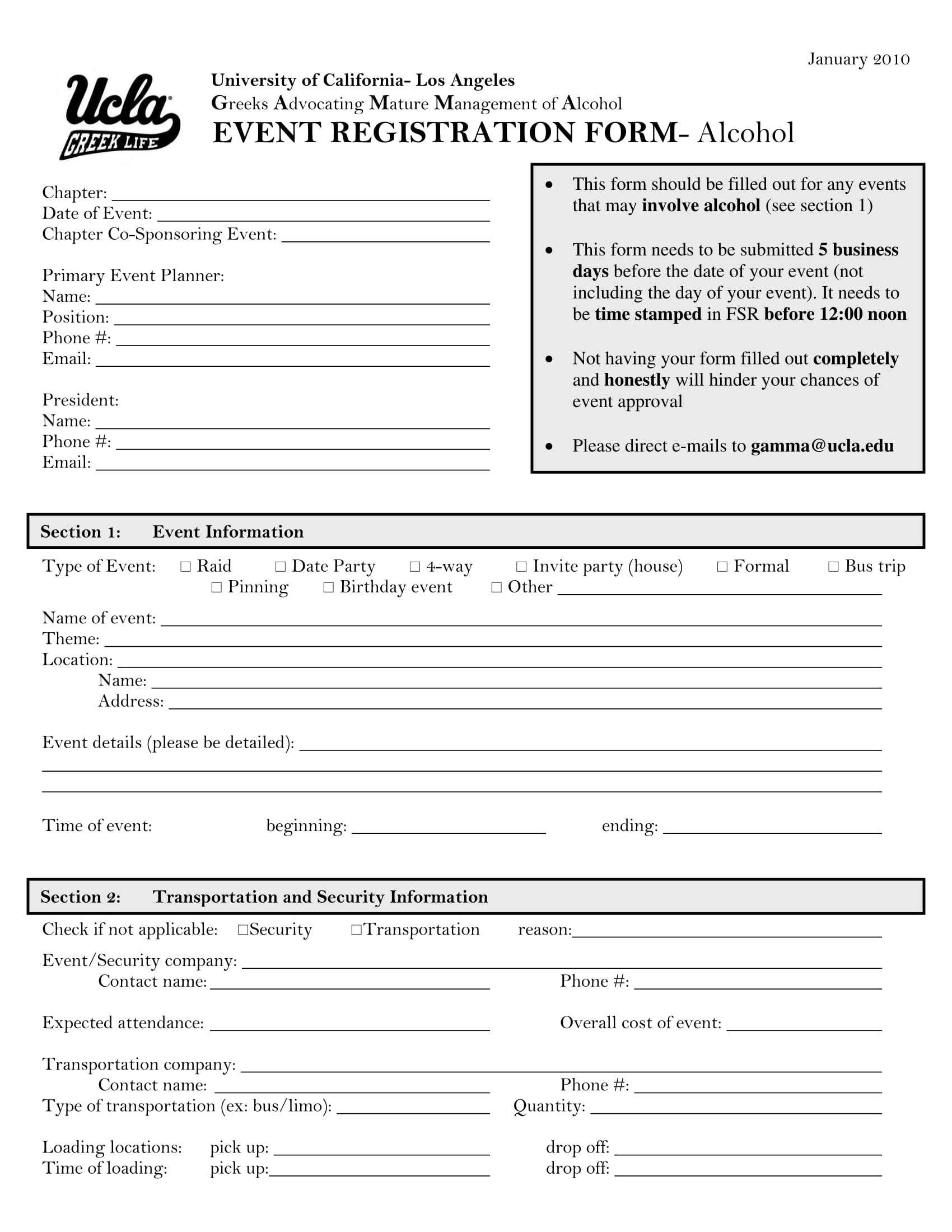 university event registration form 1