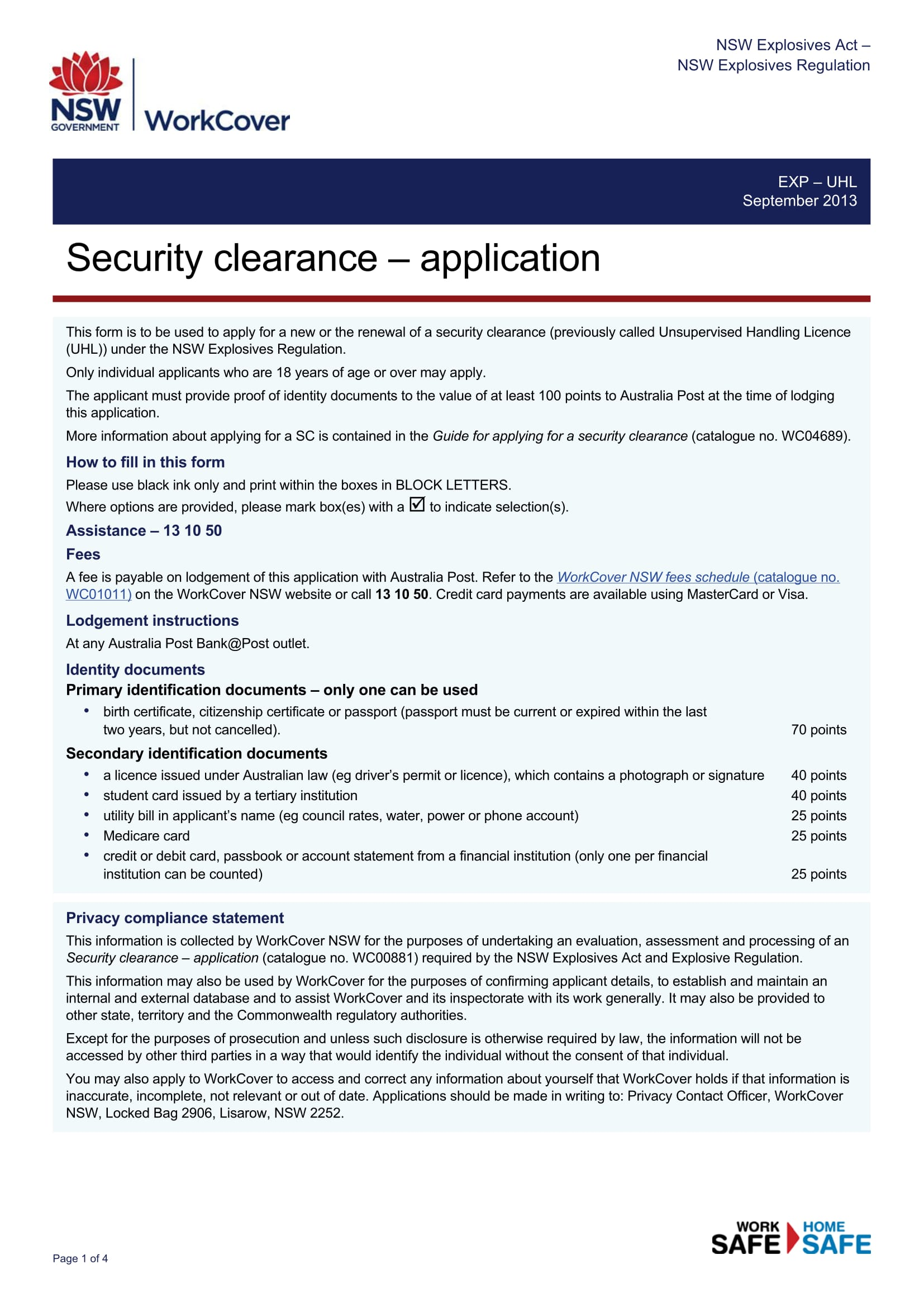 wc00881 0914 269035 security clearance application form licence static 1