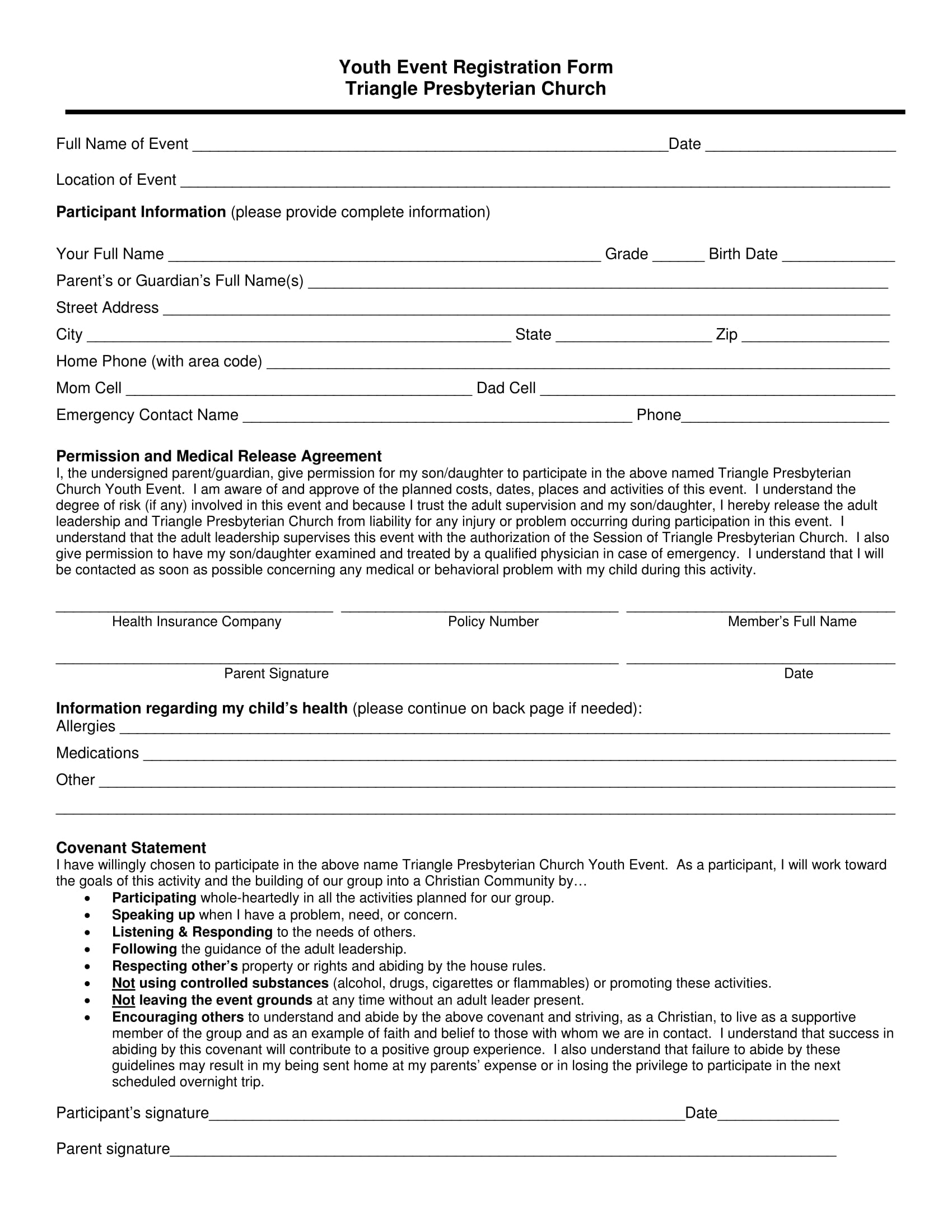 youth event registration form 1