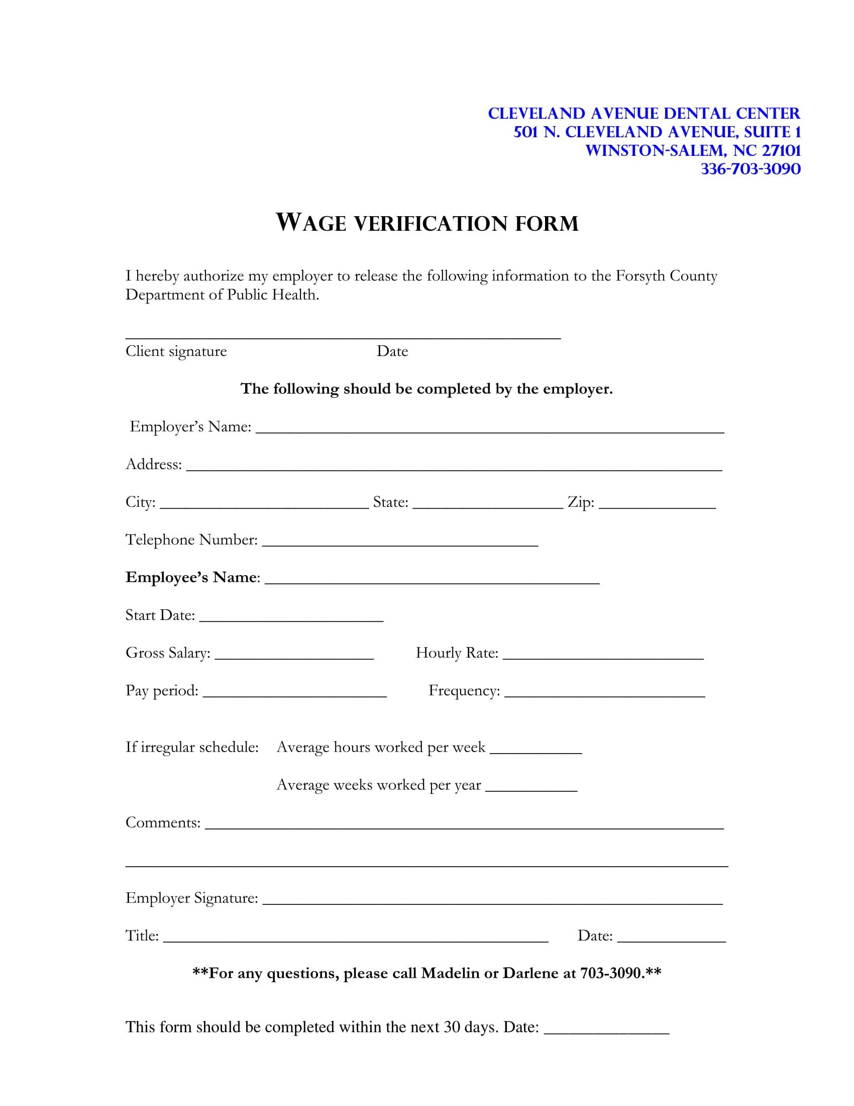 client wage verification form 1
