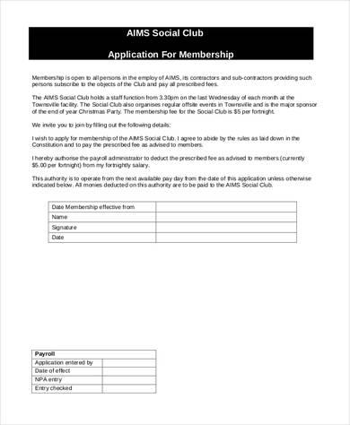 social club membership application form 390