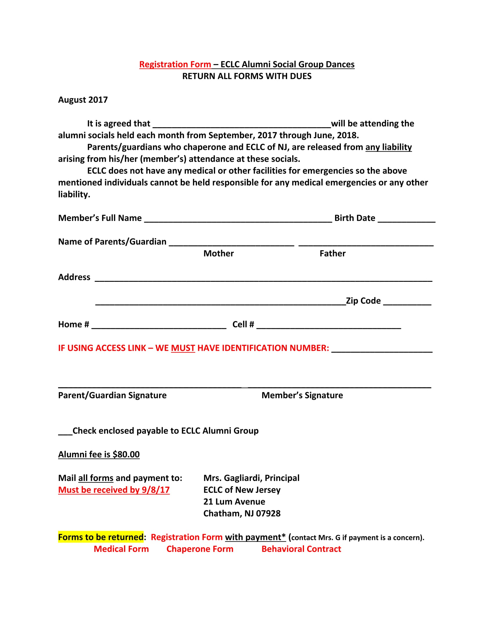 Alumni-Dance-Registration-Form-1 Talent Release Form Example on for film, for video, troy university, for guardian,