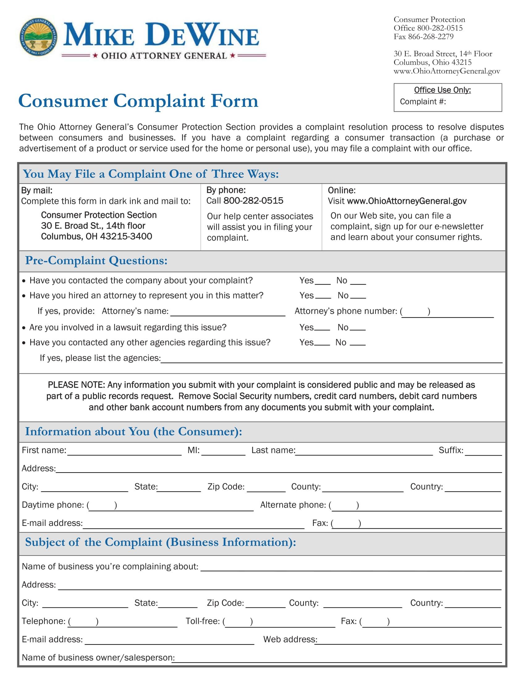 100 Financial Ombudsman Service Complaint Form – Financial Ombudsman Service Complaint Form