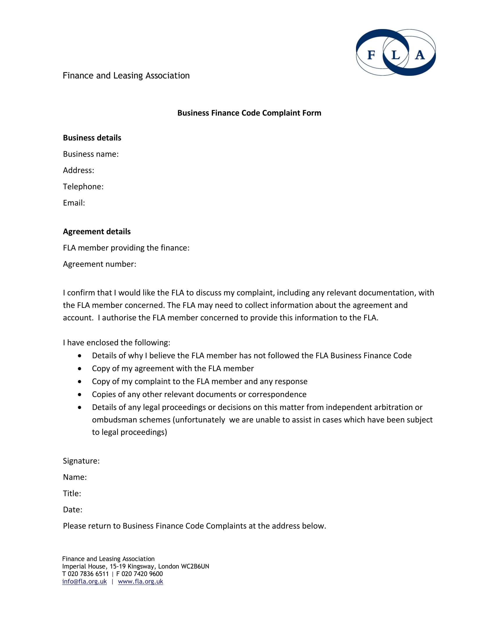 Form Free Template Financial Ombudsman Manufacturing Resume Sample
