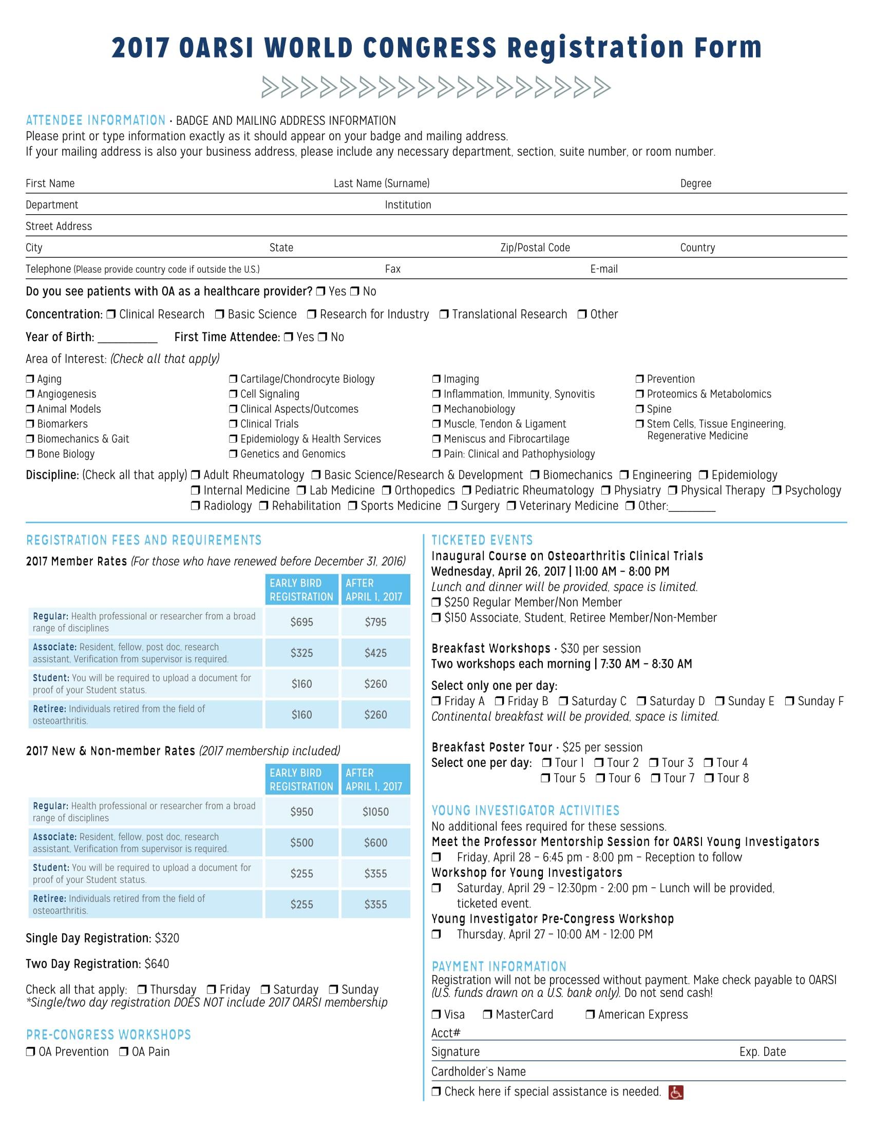 congress event registration form 1