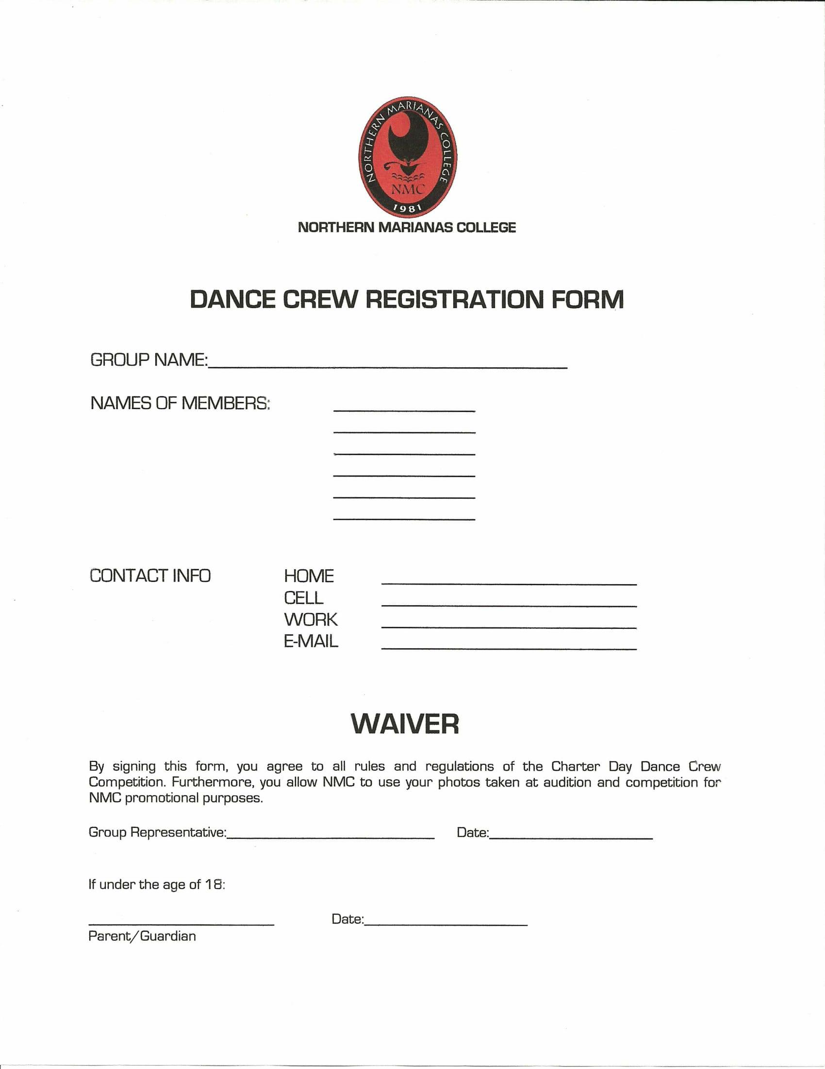 dance crew registration form 1