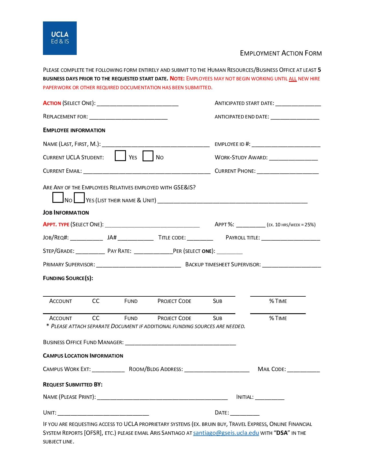 employment action form 2 page 001