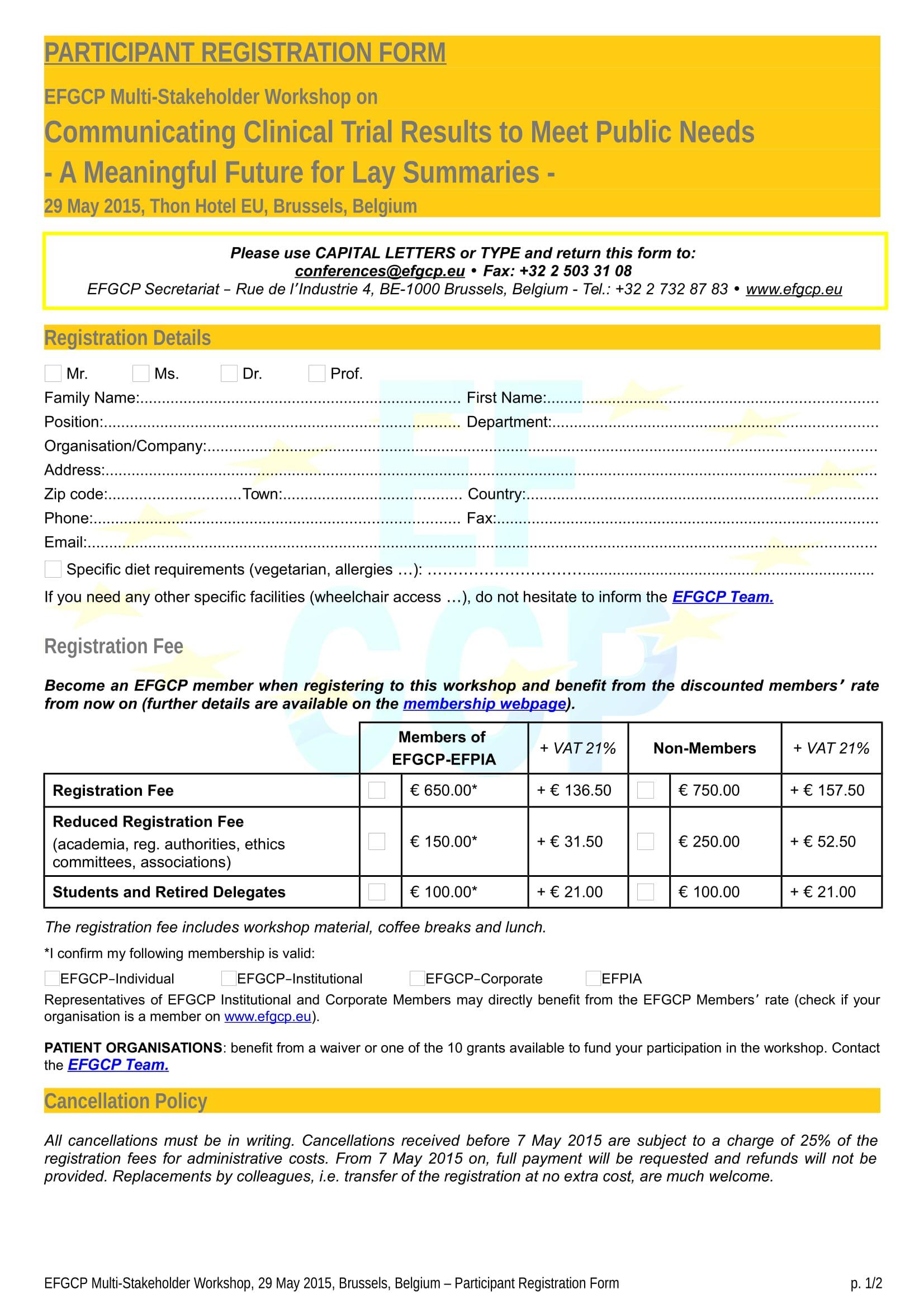 event participant registration form 1
