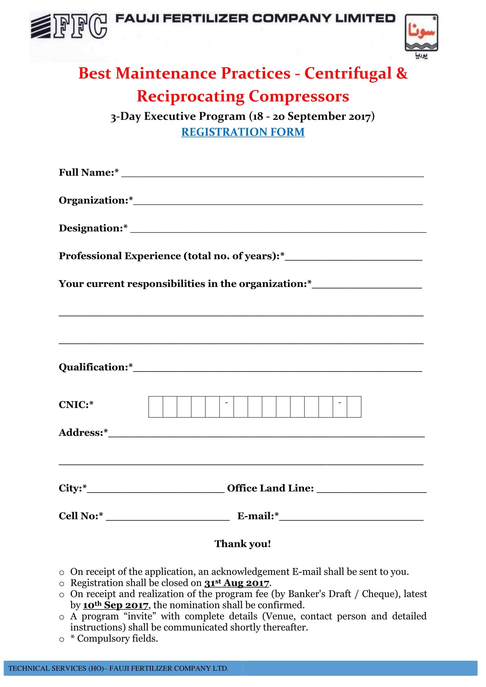 executive program event registration form 1