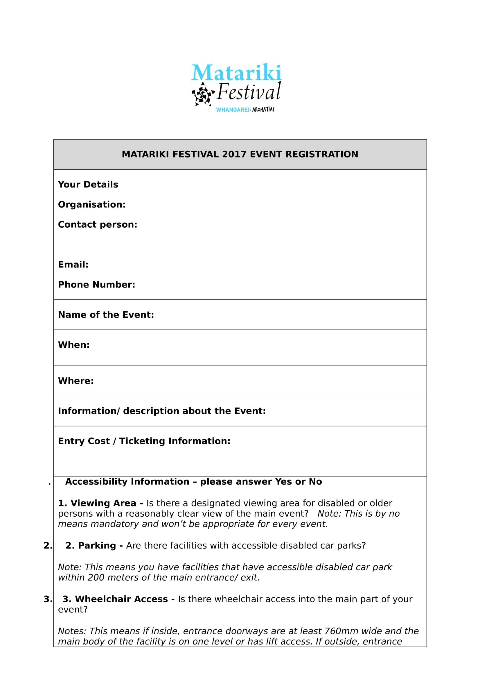festival event registration form 1