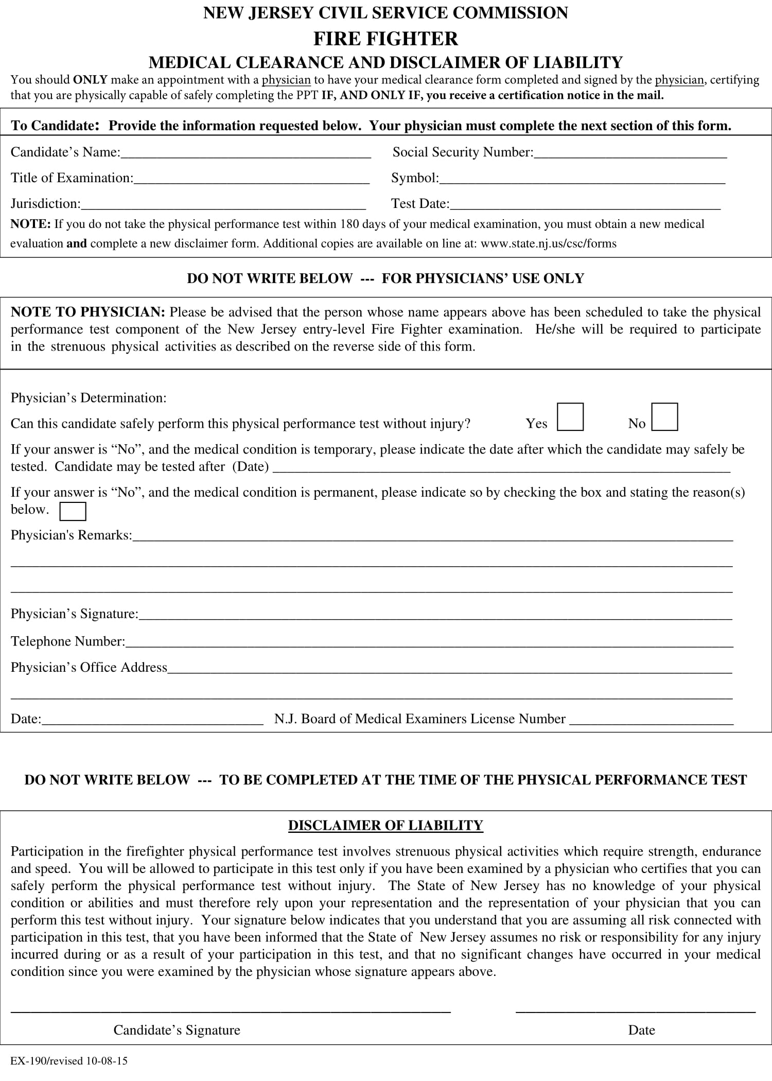 firefighter medical clearance form 1